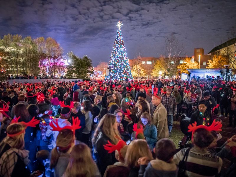 holiday light shows glow with seasonal cheer visitnccom - Christmas Train Denton Nc