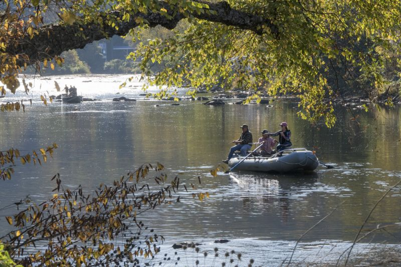A float trip is one of several ways to enjoy fishing on the Tuckasegee River