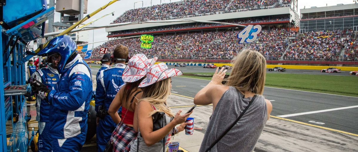 Pit Row at Charlotte Motor Speedway
