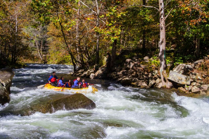 Nantahala River ranks among the most popular whitewater rafting rivers in the country