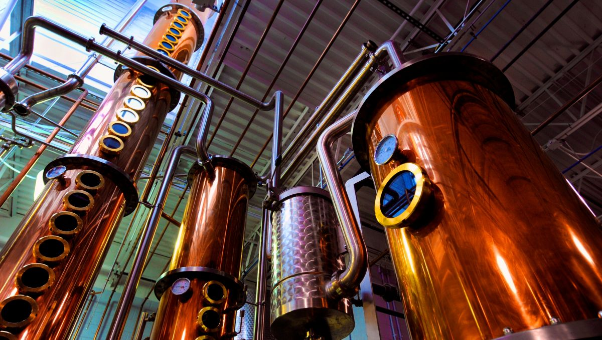 Beer vats in Top of the Hill Restaurant and Brewery