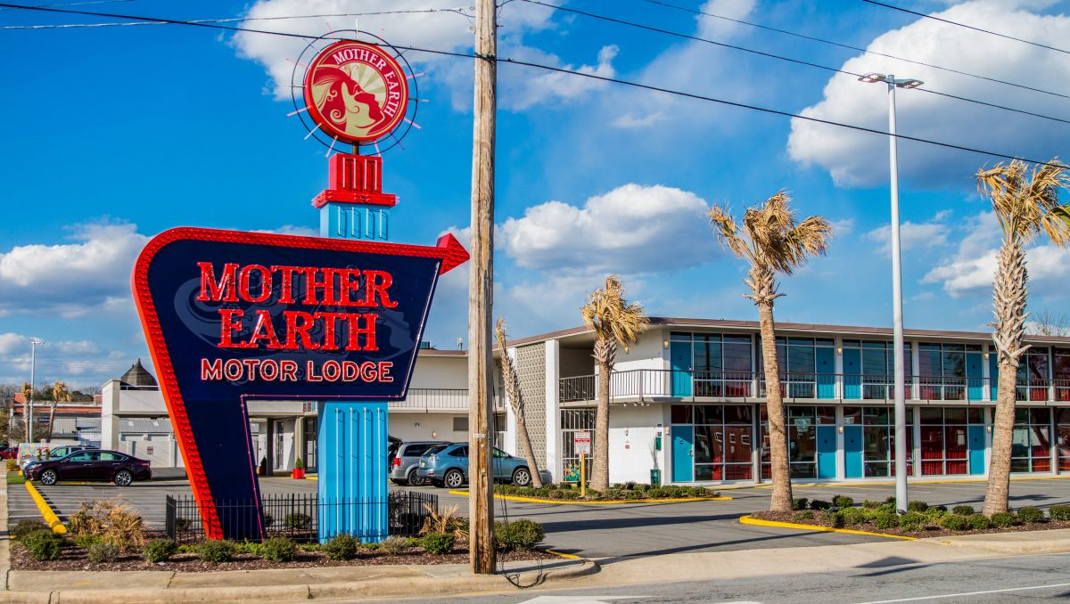 front of Mother Earth Motor Lodge