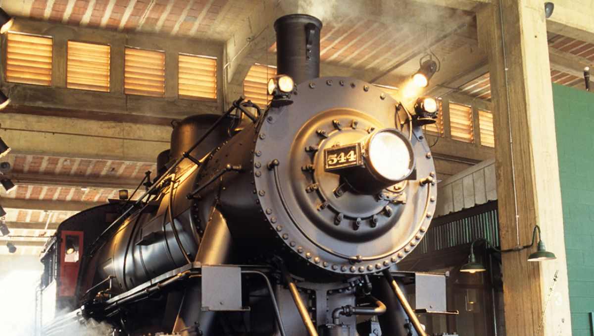 Train on display at North Carolina Transportation Museum