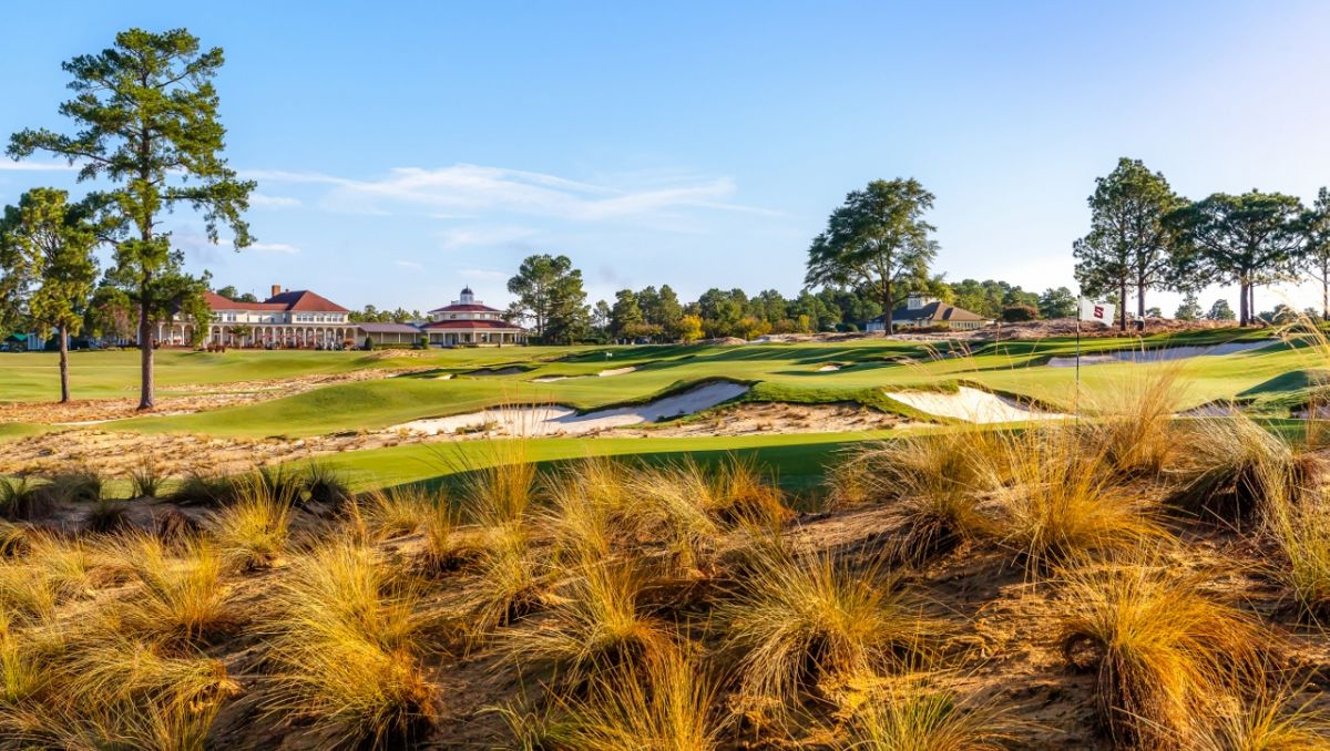 Landscape view of the Cradle with Pinehurst Resort in background