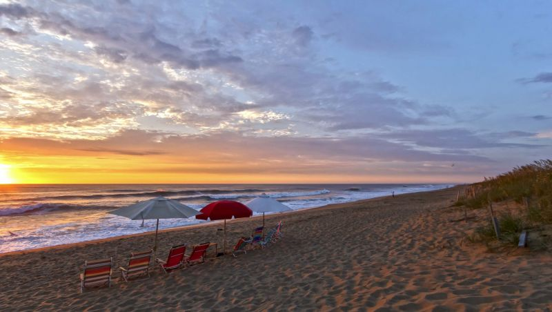 Pick Your Spot On The Beach And Watch Sunrise Over Cape Hatteras National Seas