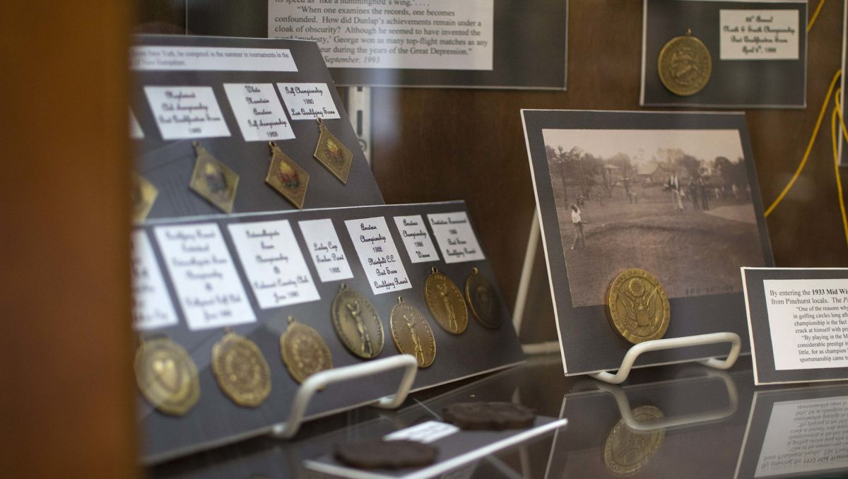 Medals and artifacts on display at Tufts Archive