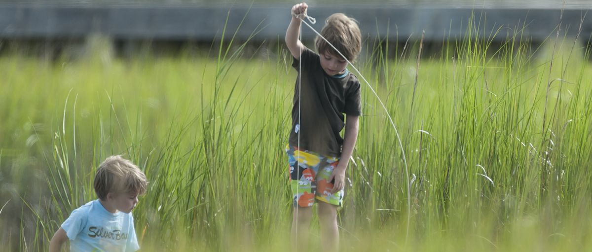 Crabbing is one of several activities for kids, offered by the Bald Head Island Conservancy
