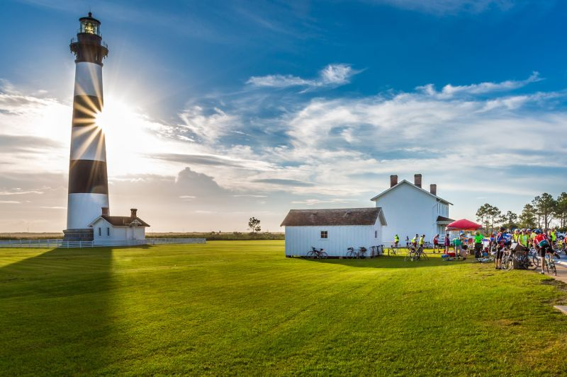 Cycle North Carolina leads riders to popular monuments like Bodie Island Lighthouse